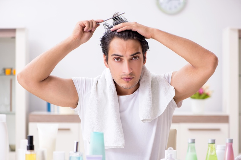Rutina de îngrijire a părului pentru bărbați