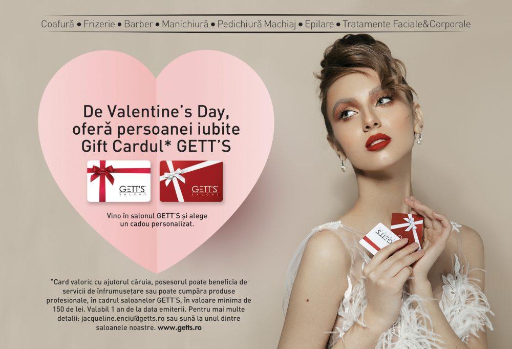 Ofera Gift Cardul GETT'S de Valentine's Day