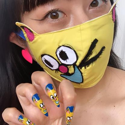 Modele de unghii asortate cu masca