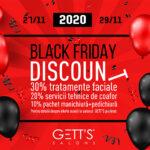 Reduceri Black Friday la servicii in saloanele GETT'S