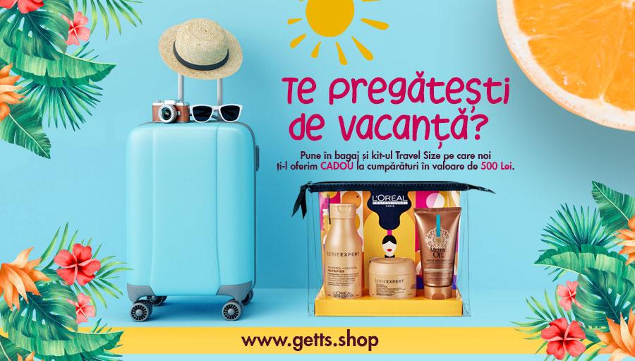 Kit-ul cadou Travel Size la cumparaturi in valoare de 500 lei