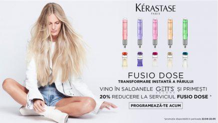 20% DISCOUNT la serviciul Fusio Dose in saloanele GETT'S